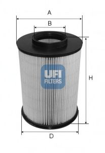 Filtre à air  UFI réf 27.675.00 (Fig-1)